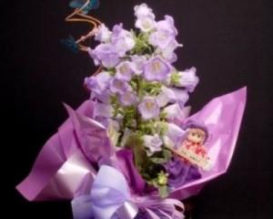 067 -  campânula decorada com cachepô